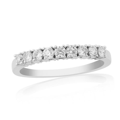 White Gold Diamond Eternity Ring Claw Set 30 Points